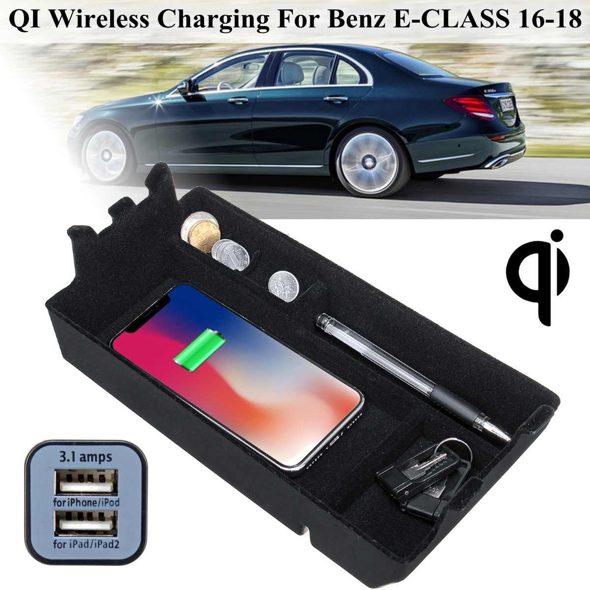 Car Wireless Charging Storage Box For LHD BMW 3 series F30 F31 F32 F34 2012-2017