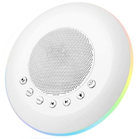 White Noise Sound Machine For Kids Adult, Baby Rest Night Light, With Memory And Timer Function 20 Soothing Music, Battery Or