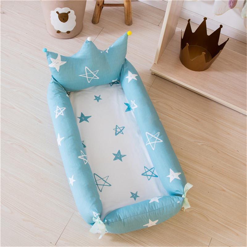 Breathable Portable Baby Bed Washable Baby Toddler Cradle Travel Cot for Newborn Cotton Crib Infant Babies Crib 0-2YBreathable Portable Baby Bed Washable Baby Toddler Cradle Travel Cot for Newborn Cotton Crib Infant Babies Crib 0-2Y