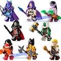 8 шт./лот строительные блоки Sylvanas Illidan Anduin Wrynn Vanessa Van Cleef Angela <font><b>Lexar</b></font> Medivh игрушки для детей подарок PG8165
