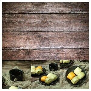 Image 5 - 56*88cm / 22 * 34.5in Doppio Lati di Legno Marmo Muro di Cemento Come Vintage Fotografia di Sfondo Sfondo di Carta bordo Prop Per Il Cibo