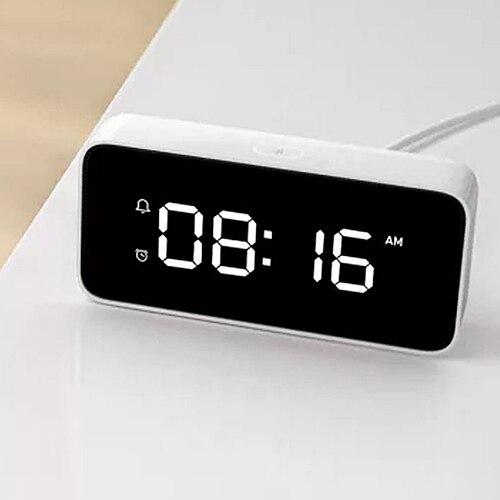 Original Xiaomi Mijia Smart Alram horloge musique chambre nuit lumière intelligente commande vocale Radio pour les enfants étudiants