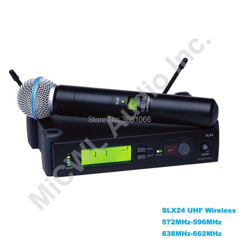 SLX SLX24 SM BETA58A système de Microphone sans fil UHF BETA 58 micro de karaoké portable dynamique Super cardioïde sans fil pour karaoké DJ