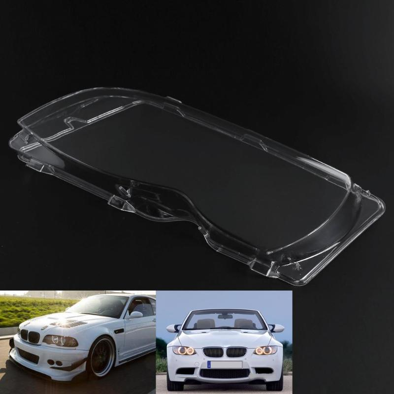 VODOOL 2pcs 4 Door Left Right Headlight Lens Headlamp Lens Cover For BMW E46 02 05 High Quality ABS With A Protective UV Coating
