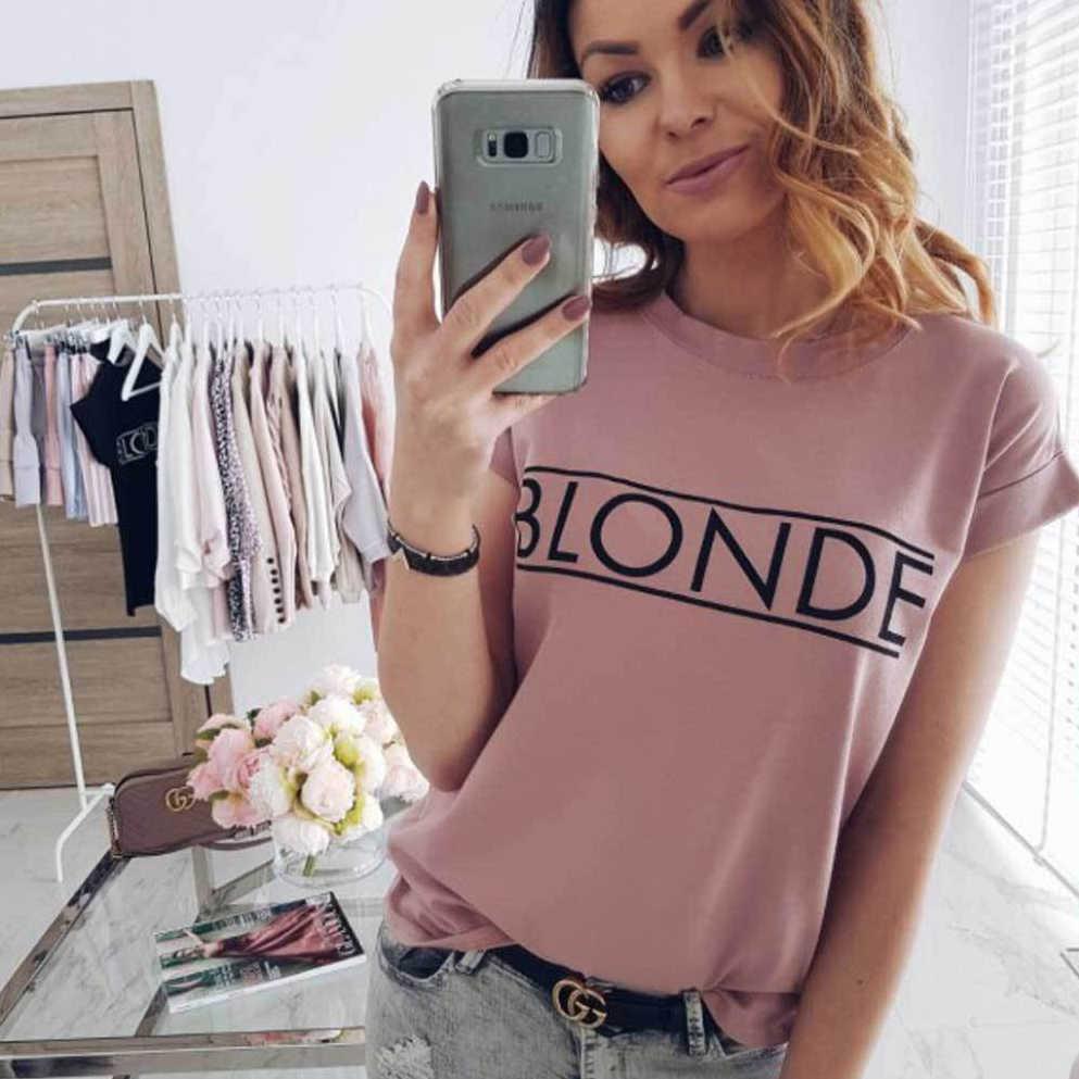 Fashion Vogue Wanita Pendek Lengan T-shirt Musim Panas Atasan Kasual Feminina Hipster Tumblr Harajuku Merek Blus Wanita Kleding