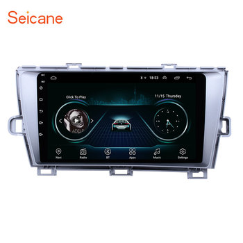 Seicane Android 8.1 2 Din Car radio Multimedia Video Player GPS For Toyota Prius 2009 2010 2011 2012 2013 Left hand driver image