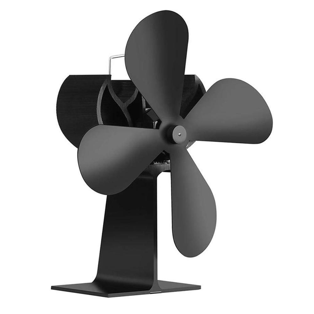 Hot TOD-Fan for the stove and Wood Heat feed stove Fan for wood stove and Chimneys No Noise Powered by Heat - BlackHot TOD-Fan for the stove and Wood Heat feed stove Fan for wood stove and Chimneys No Noise Powered by Heat - Black