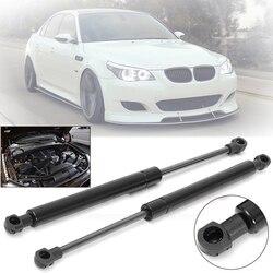 2 pcs Nero Bonnet Hood Gas Ascensore Supporto Ammortizzatore Tipo Mcpherson Ammortizzatore Kit Per BMW E60 E61 525i/528i/ 530i Auto Accessori Auto