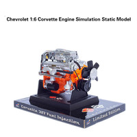 Stirling Engine Static Model 1:6 Kirwee Special Alloy Simulation Model Corvette V8 Engine Collectible Gifts Free Shipping