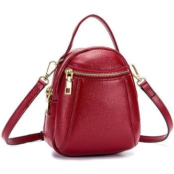 Divat nők Crossbody táska valódi bőr kiváló minőségű női táskák és pénztárcák Alkalmi Tote Bag lány táska Kis Obag Mini hordtáska