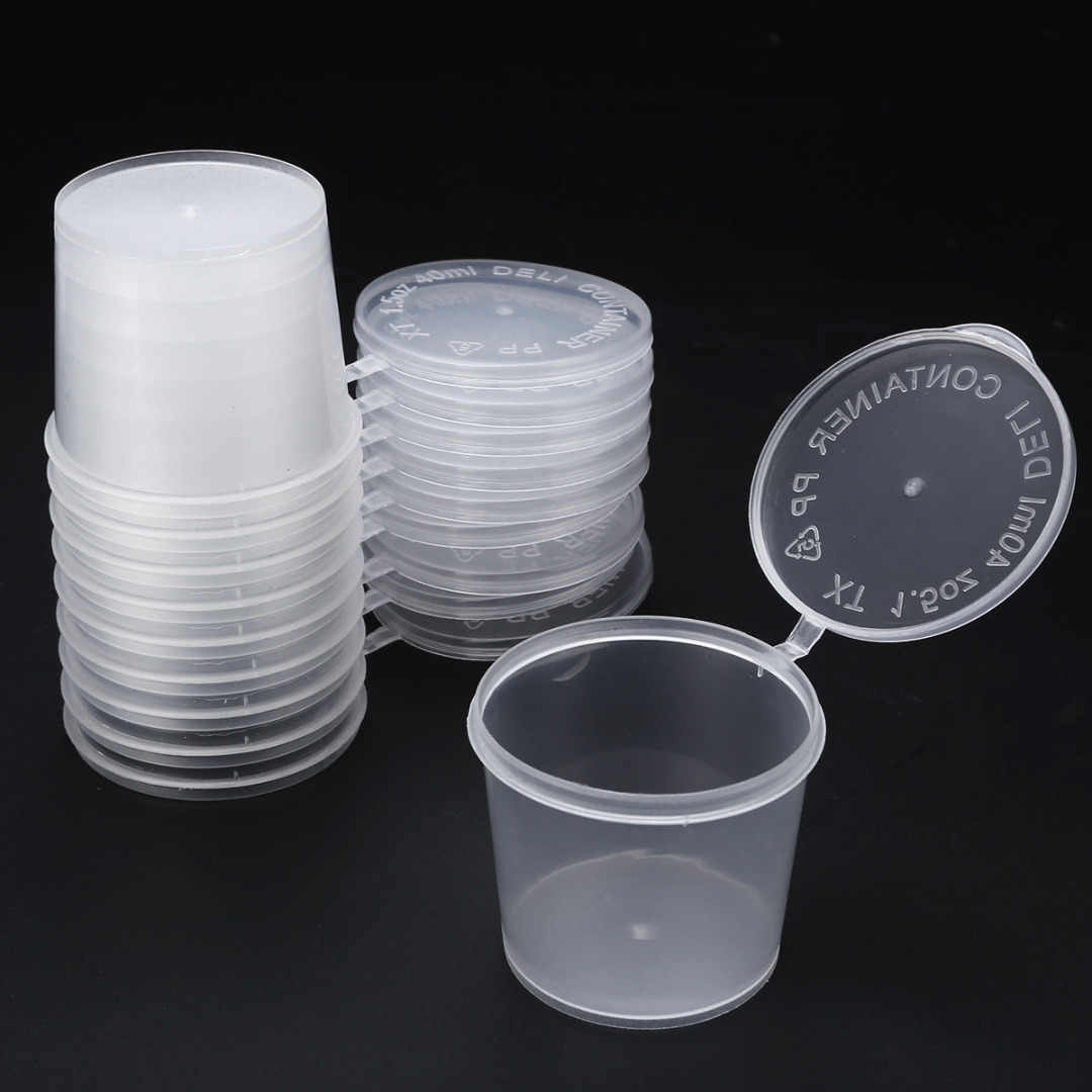 10pcs Slime Mud Clay Storage Box 25/40/50/80ml Round Storage Container with Lids