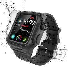 Чехол CASEWIN iWatch для Apple Watch Series 4 44 мм iWatch Водонепроницаемость в повседневных условиях ударопрочный корпус часов с ремешком для часов