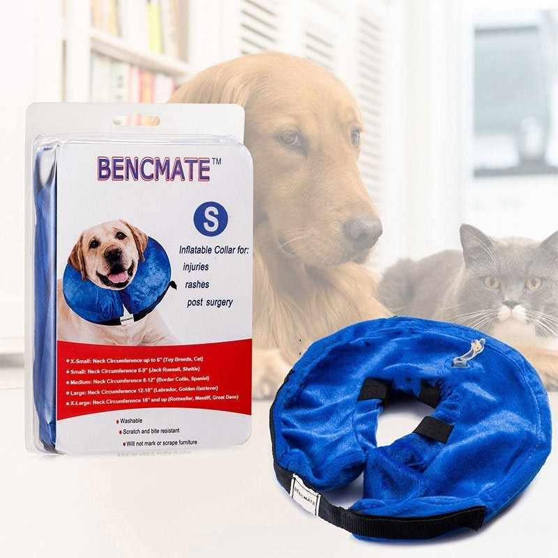Inflatable Anti Bark Elizabethan Collar Cats Healing For Neck Inflatable  Dog Collar Pet Swimming Wound Protection For Dogs