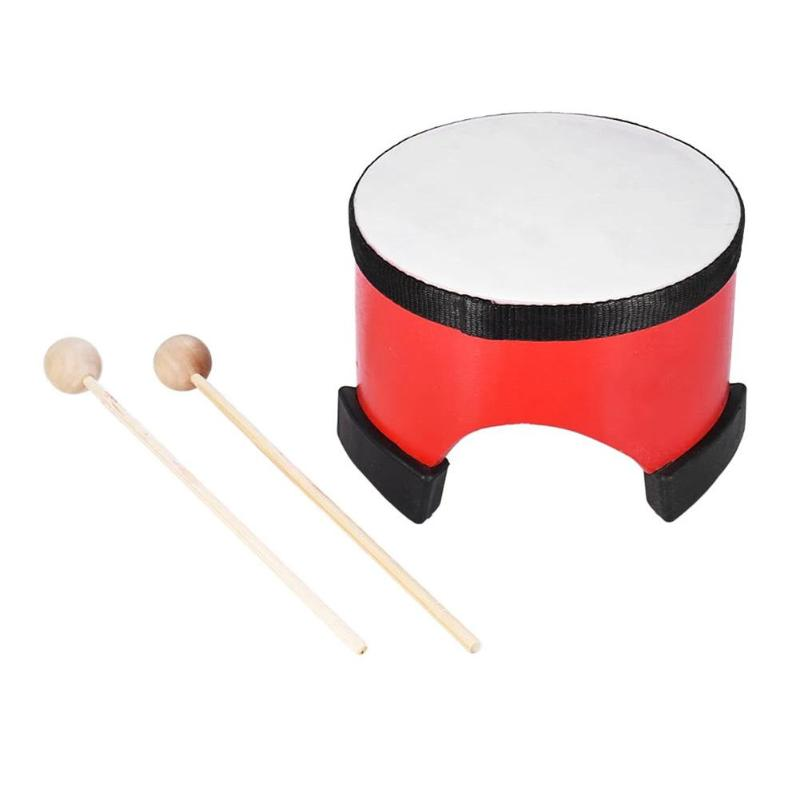 6 Inch Wooden Percussion Hand Drum Musical Game Instrument Learning Toys