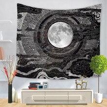 МАНДАЛА ГОБЕЛЕН настенный хиппи бохо стиле психоделический Moon настенный гобелен абстрактный колдовство стены тканью гобелены ковер