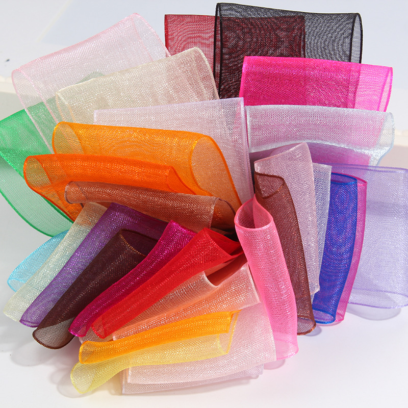 27 Colors Choose (10 Yards/lot) 3/4''(20mm) Broadside Organza Ribbons Wholesale Gift Wrapping Decoration Ribbons