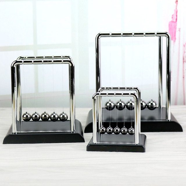 Early Fun Development Educational Toy Gift Newtons Cradle Steel Bumper Balance Ball Physics Science Pendulum For Home Desk Decor