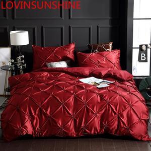Image 1 - LOVINSUNSHINE 寝具セット高級米国キングサイズのシルク布団カバーセットクイーンベッド布団セット AC05 #