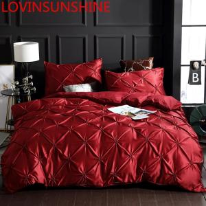 Image 1 - LOVINSUNSHINE Luxury Duvet Cover Bedding Set Queen Bed Quilt Covers Bed Linen Linen Silk AN04#