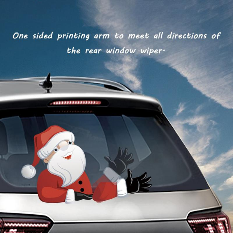2018 New Rear Car Body Decal Sticker Santa Claus Windshield Christmas Stickers Wiper Decal Tags Rear Wiper Cute Free Shipping недорго, оригинальная цена