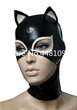 Sexy Cat Woman volledige hoofd latex masker rubber hood unisex fetish cosplay masker orejas de conejo sexy michael myers masker custom made(China)