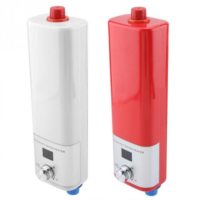 5500 W Mini Display Digital De Aquecedor De Água de Aquecimento Instantâneo Cozinha Potável Máquina Elétrica de Aquecimento de Água para Uso Doméstico