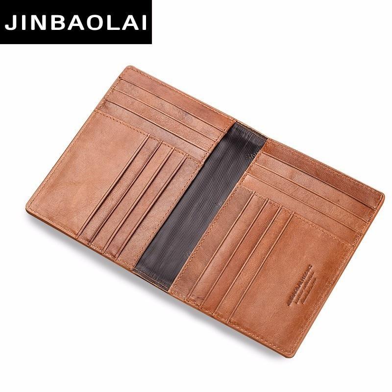 Men Travel Passport Soft Leather Cover Folder Bag Card Holder Wallet Coin Purse