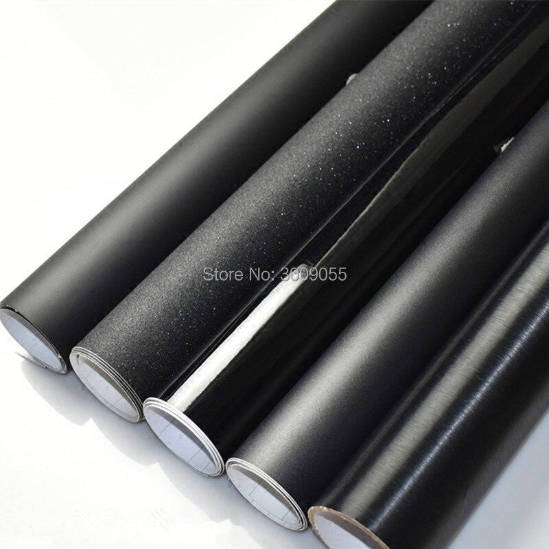 Black Matte Vinyl Wrap with Air Bubble Free Matt Black Foil Car Wrap Film Vehicle Sticker