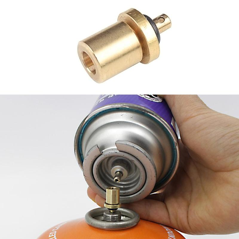 Gas Refill Adapter for Stove Outdoor Hiking Camping Stove Adaptor Burner Gas Cylinder Tank Accessories Inflate Butane