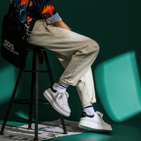 2019 Spring New Korean Version Of Hip Hop Wind Men's Casual Trend Straight White Jeans Small Fresh Thickening Party S 2xl
