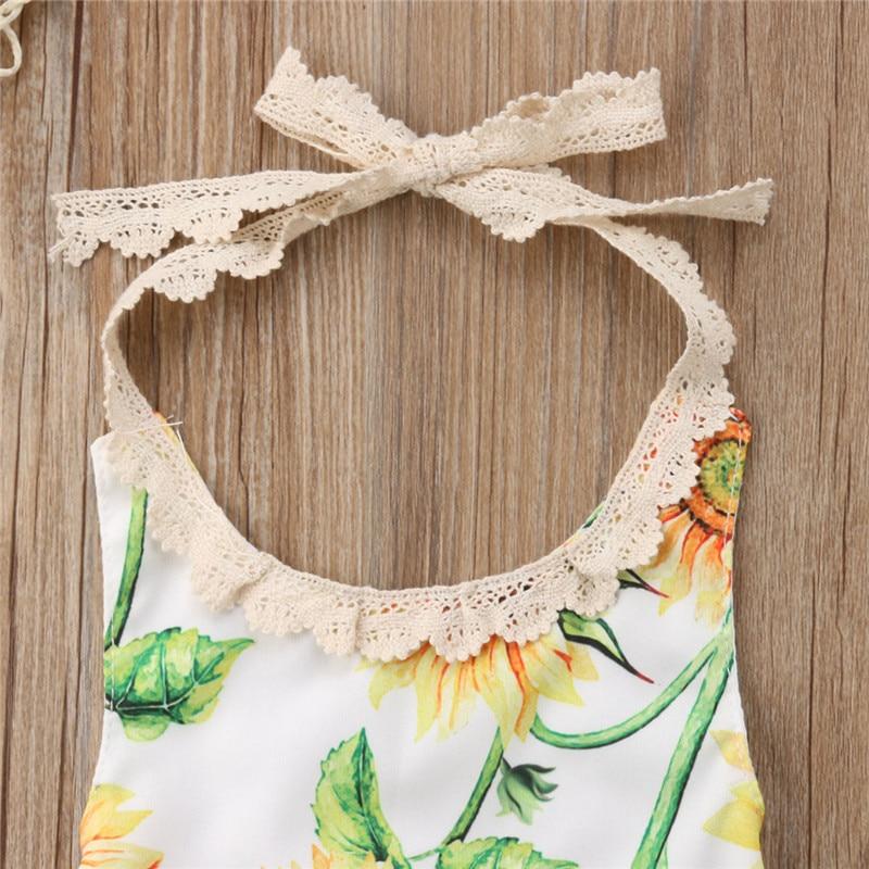Nette Baby Mädchen Quaste Bib Outfits Sonnenblumen Ärmel Halfter T-shirt Tops + Kleinkind Gürtel Dots Shorts 2 Pcs Sommer Prinzessin kleidung