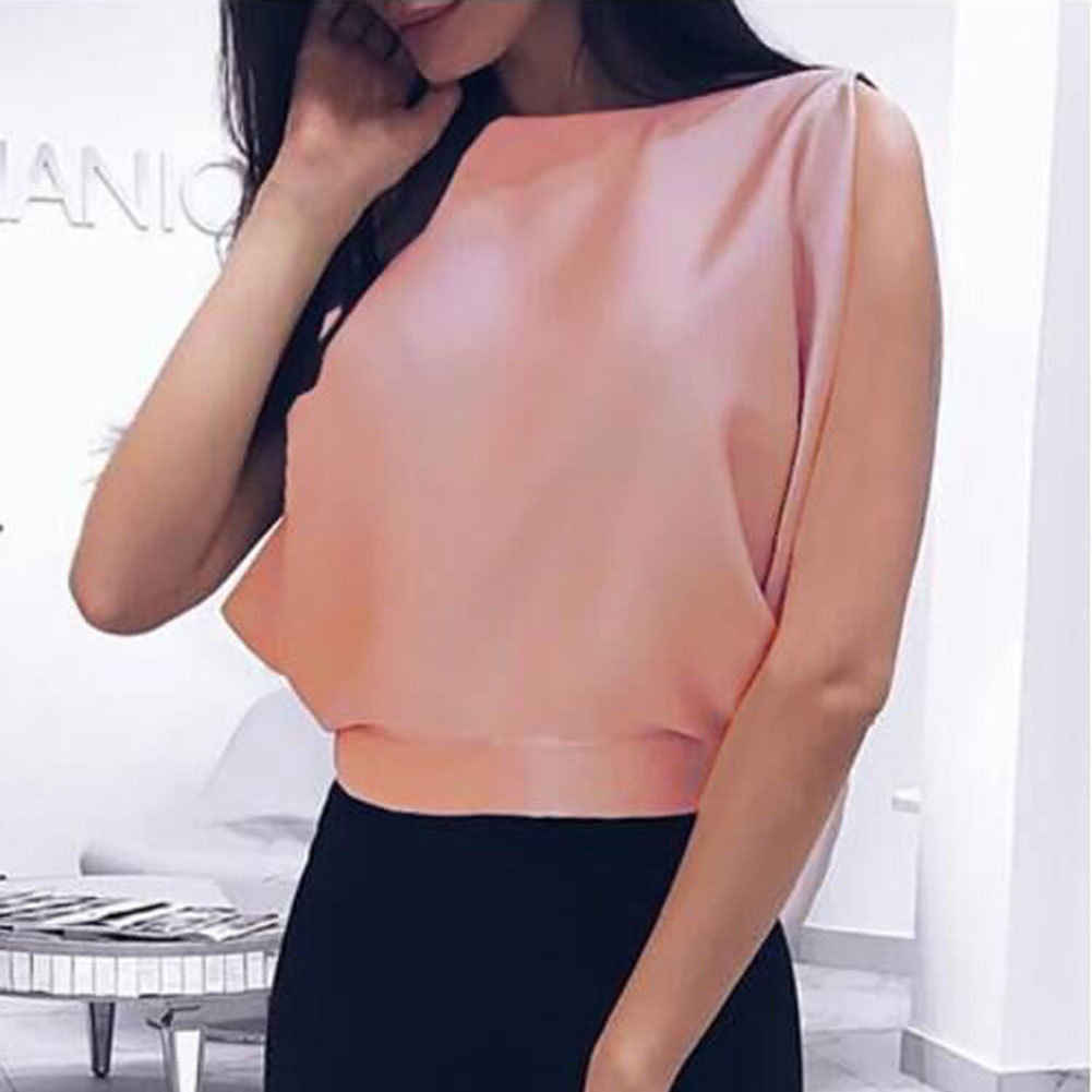 1cf27c7e26a71 ... New Women Autumn Casual Turtleneck Satin Tank Sleeveless Top Clubwear  Sexy Backless Bow Tie Crop Top ...