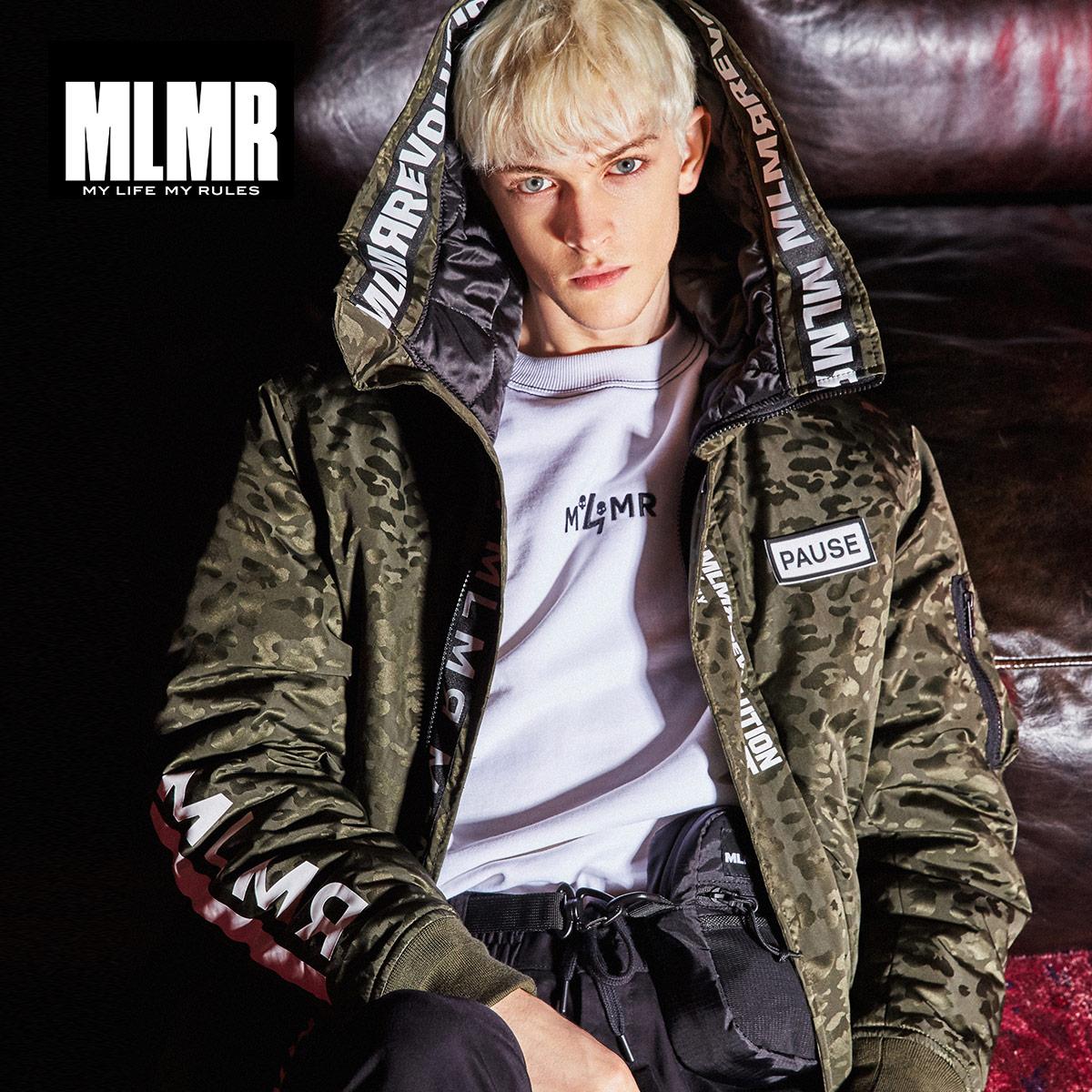 MLMR Men's Winter Camouflage Letter Cotton Jacket Fashion Brand Slim Fit Coat Male Baseball Bomber Jacket M| 218309521