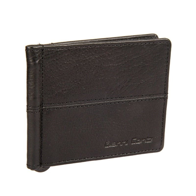 Фото - Money clip Gianni Conti 1137466E black man clutch wallet card leather bag pockets bifold money clip black blue