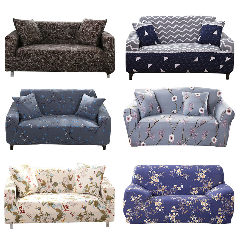 1pcs Flower Leaf Soft Stretch Sofa Cover Home Decor Spandex Furniture Covers Decoration covering Hotel Slipcover 58031