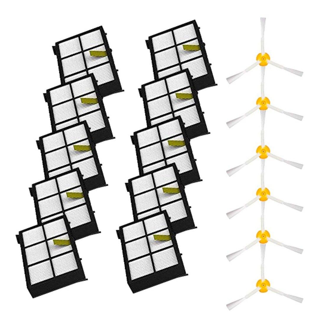 Боковые щетки и фильтры Замена для iRobot Roomba 800 900 серия 805 860 870 871 880 890 960 980 Роботизированные Вакуумные детали-Inc
