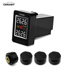CARCHET U912 Car Wireless Tire Pressure Monitoring System 4 External Anti-theft Sensors LCD TPMS For Toyota Land Cruiser Reiz tn400 wireless tire pressure monitoring tpms system monitor 4 internal sensors for renault peugeot toyota and all car free ship
