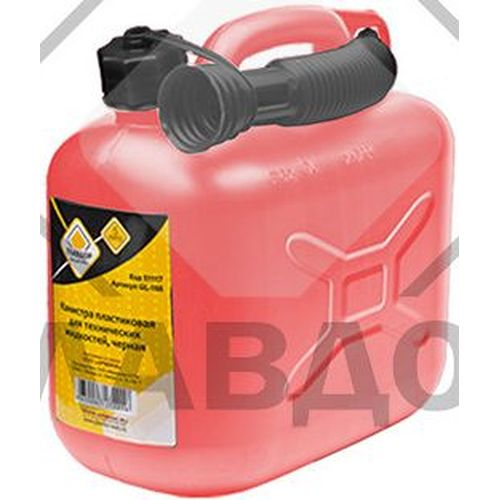 Canister fuel ГЛАВДОР GL-320 5L red plastic (52335) air compressor intake filter silencer black plastic housing canister 19mm diameter