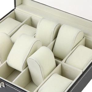 Image 5 - Caja de almacenamiento de cuero PU cajas de embalaje para reloj
