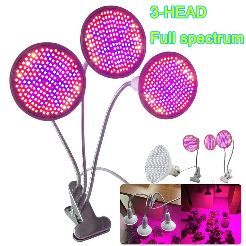 LED Plant Grow Light Growing Tent Box Full Spectrum Flower 200 UV IR Room E27 Lamp Clip Seeds Bulb Dual For Indoor Growbox Hydro