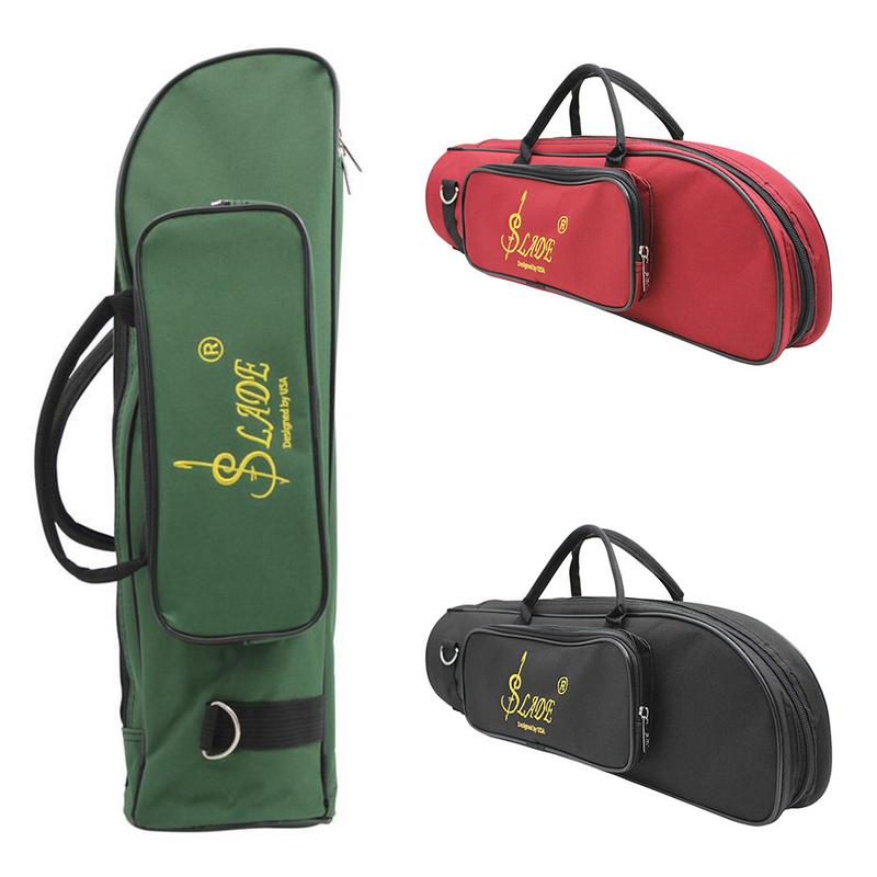 Professional Trumpet Bag Oxford With Soft Cotton Bag Case Double Zippers Lightweight Design For Brass Instrument