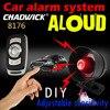 12V Auto alarm system mit sirene laut sound 20W eine möglichkeit fernbedienung Einstellbare empfindlichkeit CHADWICK 8176 DIY batterie anschließen