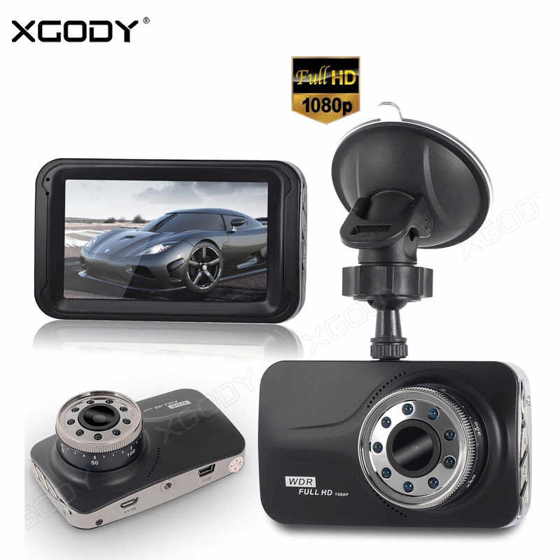XGODY 3 Inch Dash Camera Night Vision  Vehicle Car DVR Dash Cam IR Lights Video Recorder 1080P Dashcam Russia In Stock