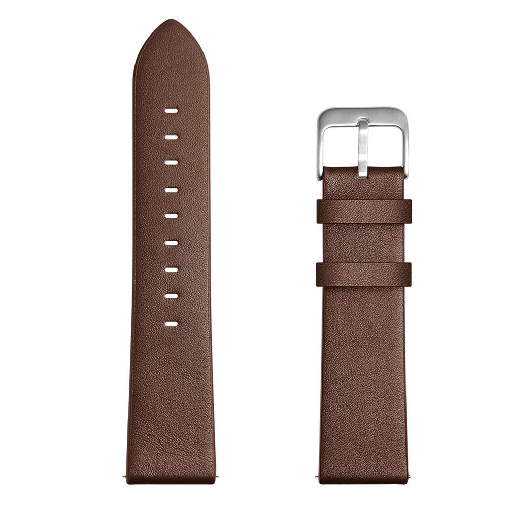 Image 5 - 22mm Fashion Replacement Needle Pattern Leather Strap Wristband For Watch GT / Honor Watch Magic Black Brown Gray New-in Smart Accessories from Consumer Electronics