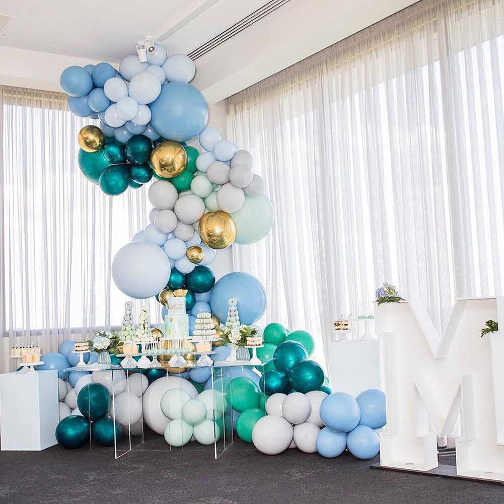 Macaron Green Ballons Decor Set Diy 3d Balloons Arch
