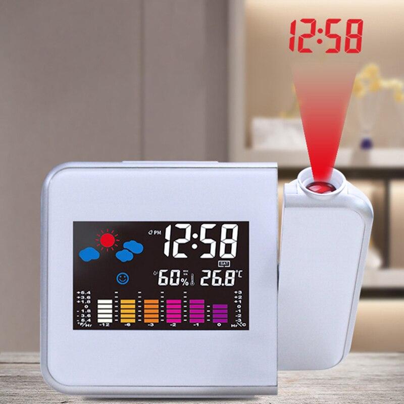 1 Pcs Zeit Uhr Multi Funktion Digitale Alarm Uhren Farbe Bildschirm Desktop Uhr Display Wetter Kalender Zeit Projektion Im Sommer KüHl Und Im Winter Warm