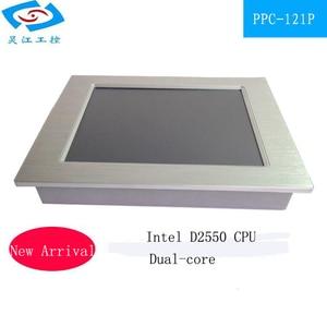 Image 2 - 12.1 cal bez wentylatora panel przemysłowy PC 4 * com tablet z ekranem dotykowym obsługa komputera PC windows xp/windows10 systemu
