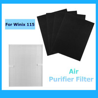 Home True Hepa Air cleaner Purifier + 4 Carbon Filters For Winix 115 Size 21 Plasma Wave Models 5300 5500 6300 WAC5300 WAC5500
