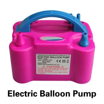 600W High Voltage Double Hole AC Inflatable Electric Balloon Inflator Pump Air Balloon Pump Portable Air Blower EU Plug