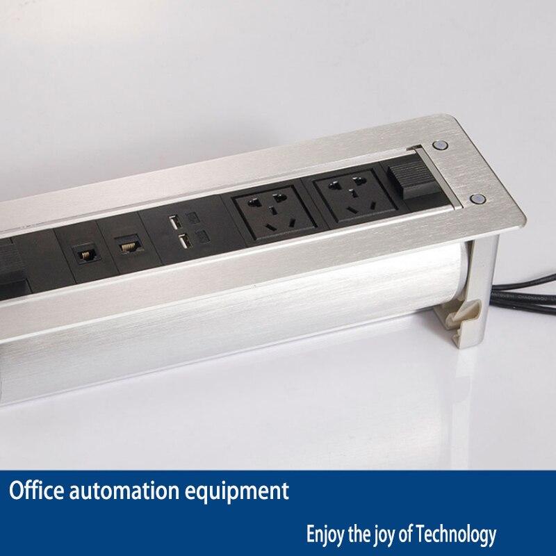 Prise de charge électrique sans fil multi fonction multimédia boîte d'information prise cachée/équipement de bureautique/01 - 3
